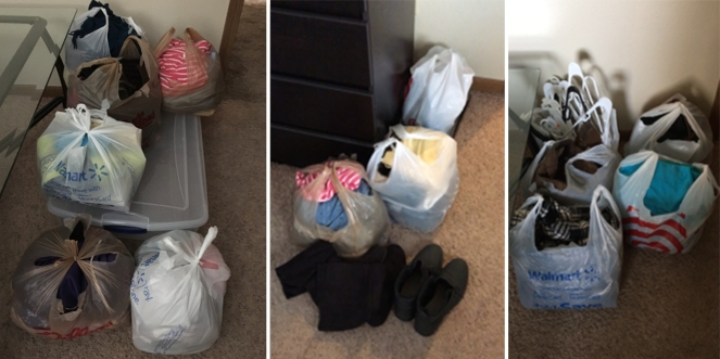 Bedroom declutter donation items